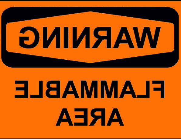 Sign Symbol Cautionary Flammable Combustible Warni