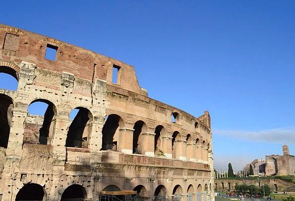 Coliseum Rome Italy Arches Arcs