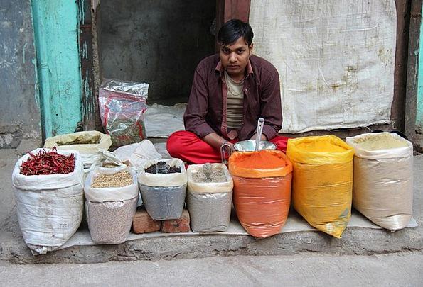 Man Gentleman Vendor Indians Seller India Delhi Ma