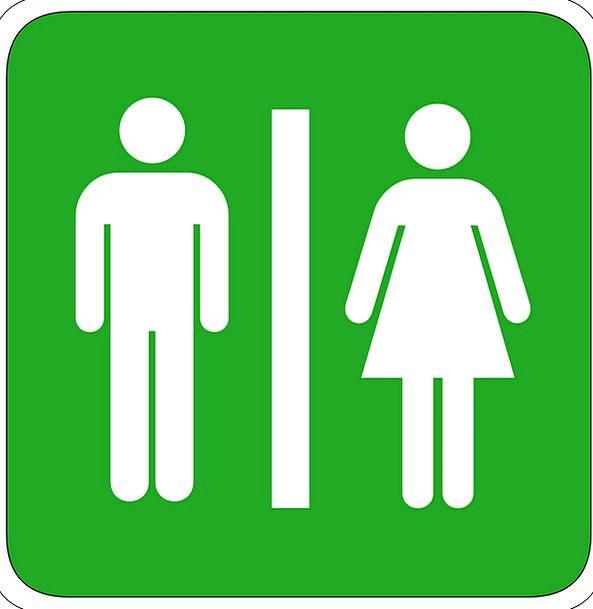 Man Gentleman Lady Toilet Lavatory Woman Ladys Wc