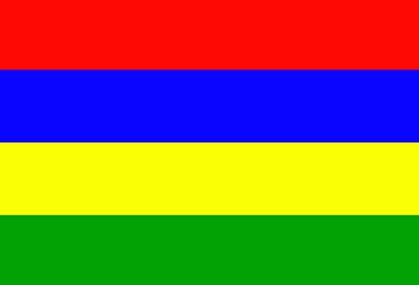 Mauritius Standard National Nationwide Flag Green