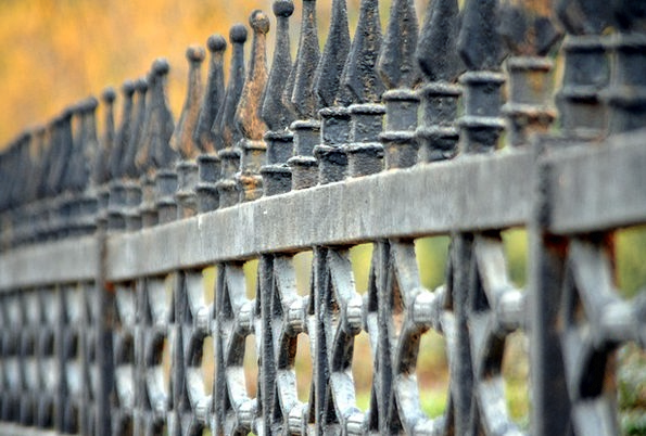 Fence Firm Wrought Shaped Iron Protect Defend Wall