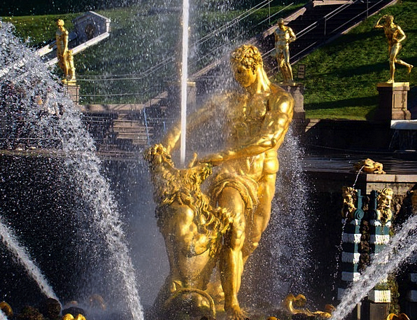 Fountain Cascade Petrodvorets Peterhof Peterhof Pe