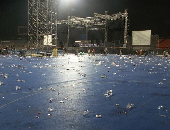 Stadium After Concert Concert Performance Stadium