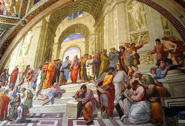 Fresco Mural Vatican Museums Vatican Philosophers