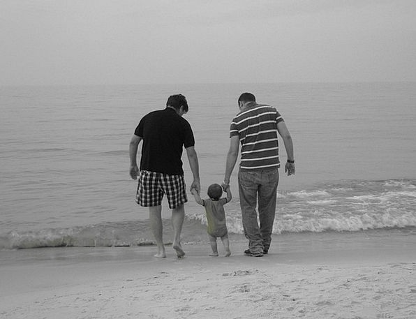 Family Domestic Dad Beach Seashore Father Child Yo