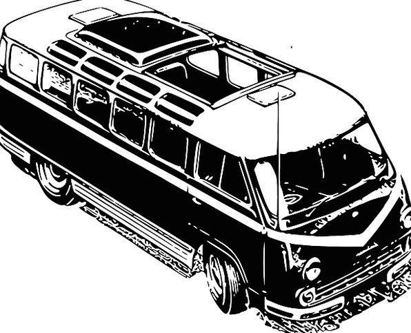 Minivan Traffic Car Transportation Vehicle Bus Min