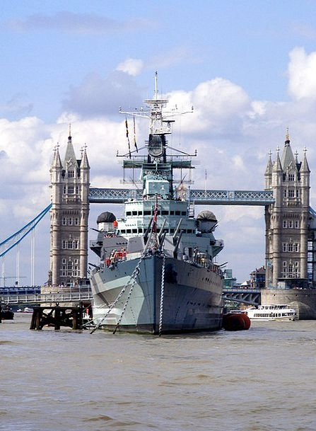 Warship Vessel Water Aquatic Cruiser Thames London