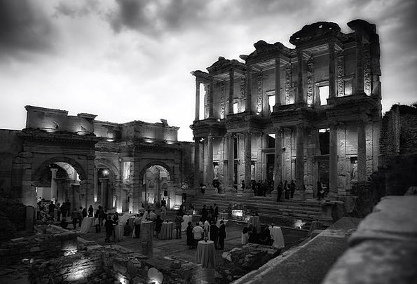 Celsus Library Monuments Places Turkey Ephesus Nig