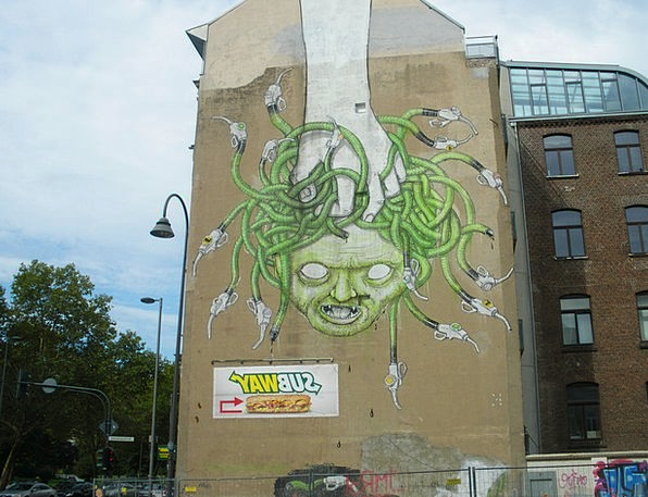 Hauswand Drawings Cologne Fragrance Graffiti Medus