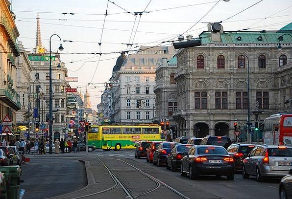 Vienna Traffic Road Transportation City Urban Stre