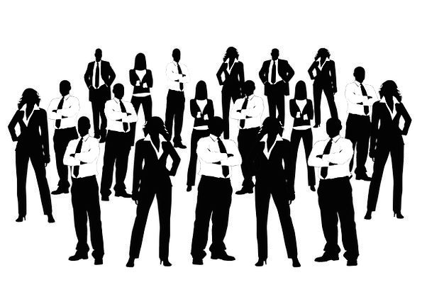 Businessmen Manufacturers Individual Silhouettes O
