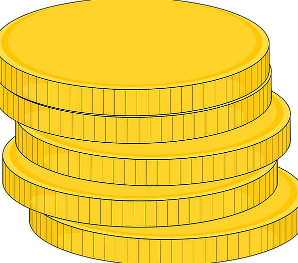 Coins Changes Gilded Stacked Loaded Gold Metal Met