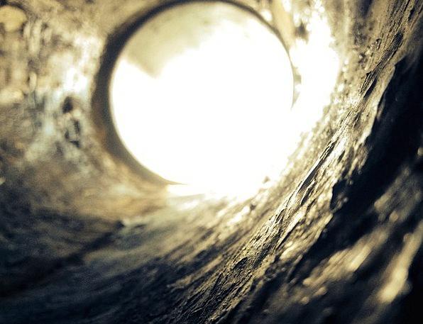 Concrete Real Fleabag Tube Pipe Hole Porthole Aper