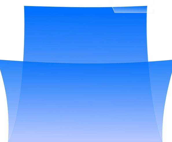 Folder Binder Azure Office Workplace Blue Blank Ou
