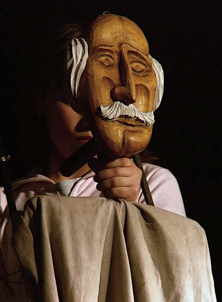 Puppet Marionette Timber Old Man Wooden Puppeteers