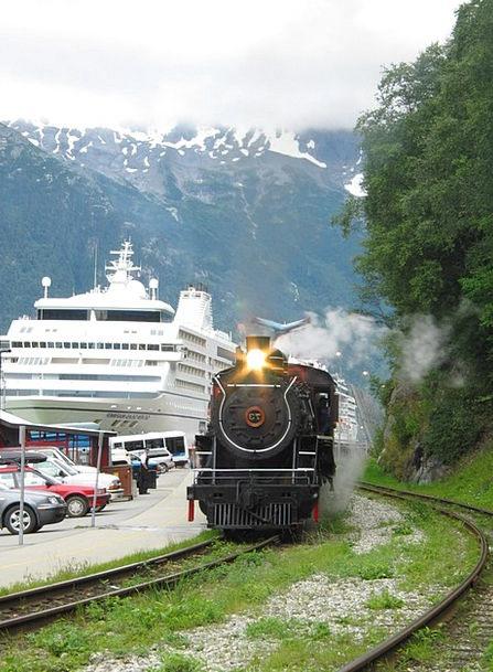 Alaska Buildings Architecture Locomotive Train Ska