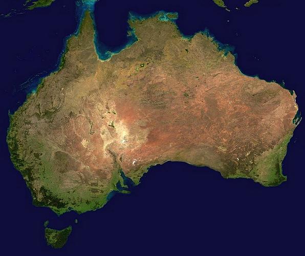 Australia Map Satellite.Australia Vacation Landmass Travel Aerial View Continent