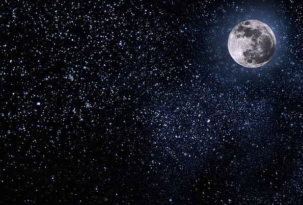 Night Nightly Textures Blue Backgrounds Moon Romanticize Sky