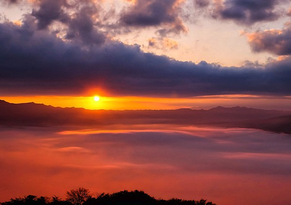 Sea Of Clouds Kumamoto Japan Aso Asahi Cloud Somma