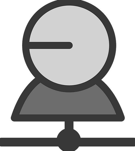 Single Solitary Operator One Unique User Icon Imag