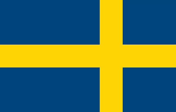 Sweden Standard Nation State Flag Country Republic