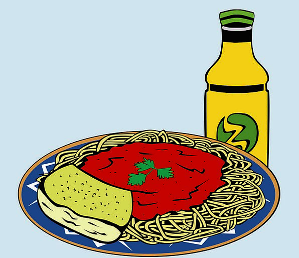 Spaghetti Drink Food Meal Mealtime Pasta Delicious
