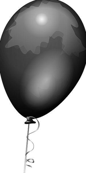 Balloon Inflatable Shiny Glossy Black Party Helium