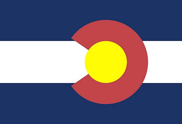 Flag Standard State National Colorado Yellow Symbo