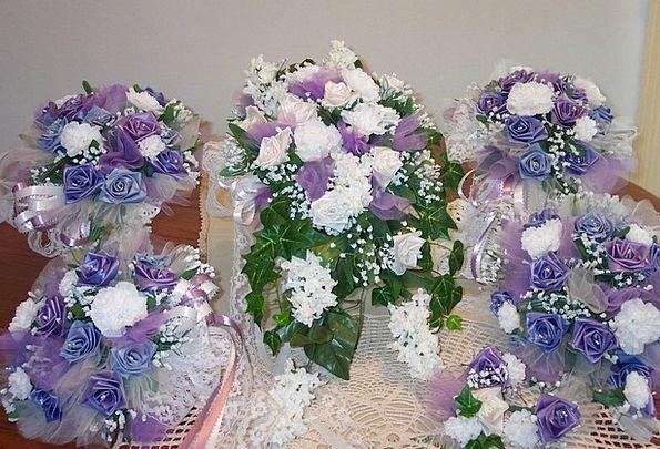 Flowers Plants Bunches Purple Elaborate Bouquets D