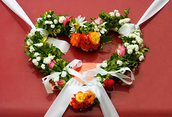 Wreath Garland Plants Wedding Bridal Flowers Valen
