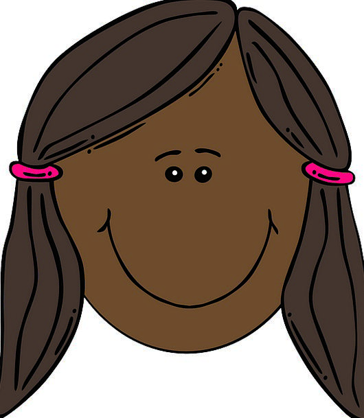 Girl Lassie Expression Brown Hair Face Pigtails Po
