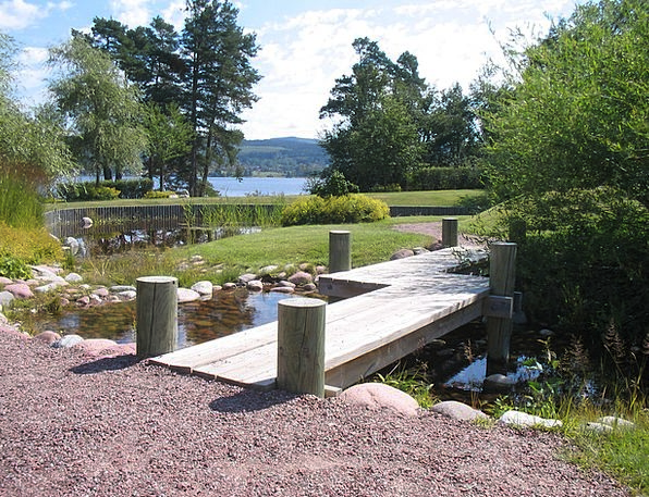 Sweden Garden Plot Leksand Water Aquatic Gravel Br
