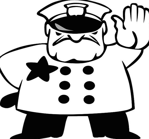 Policeman Cop Traffic Halt Transportation Traffic