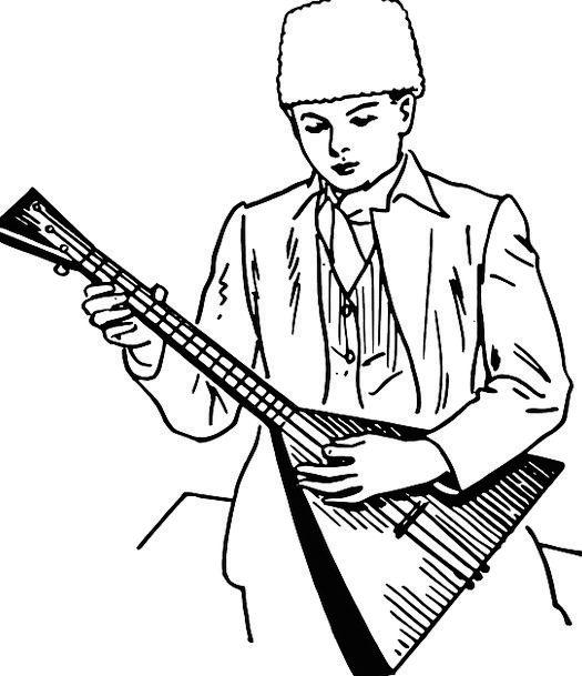 Balalaika Melodic Instrument Tool Musical Young Ru