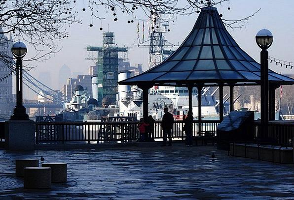 Tower Bridge Battleships London Harbour Thames