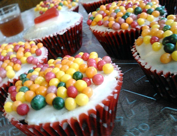 Cupcakes Bonbon Cakes Bars Candy Cereal Balls Past