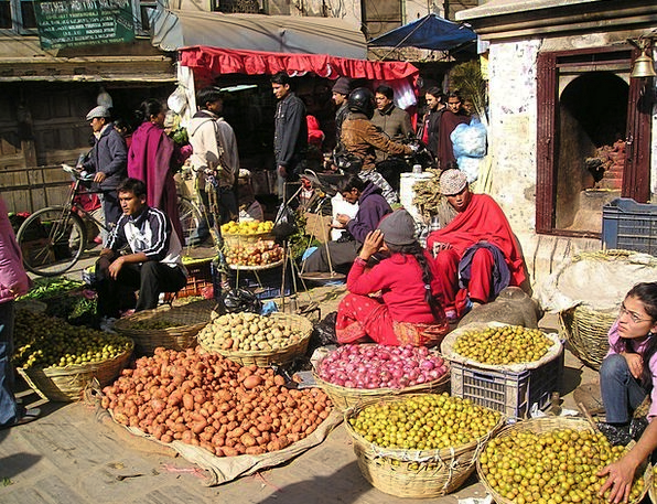 Nepal Drink Food Fruit Ovary Street Market Vegetab