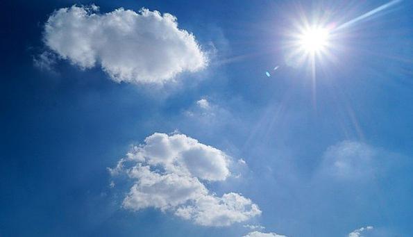 Sky Azure Clouds Vapors Blue Sun Air Sunny Fresh C