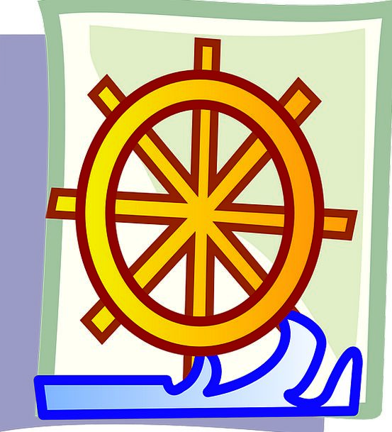Ship Helm Vacation Helm Travel Steering Direction-