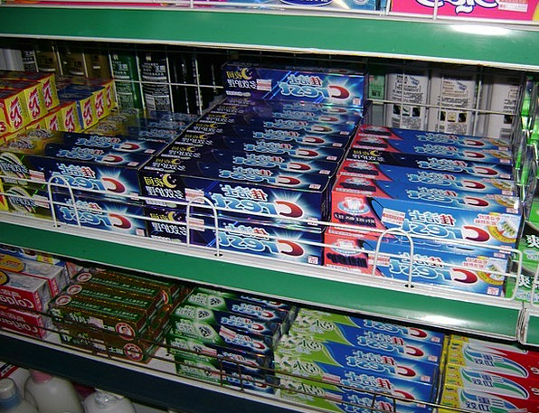 Toothpaste Porcelain Store Stock China Row Rack St
