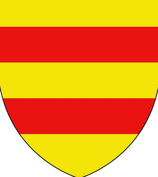 Coat Of Arms Crest Symbol Yellow Creamy Emblem Red