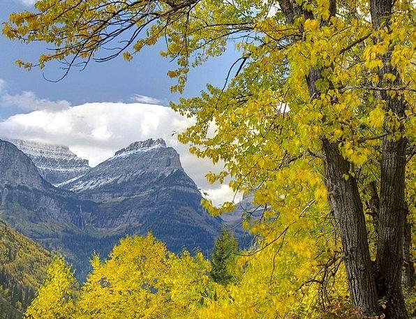 Mountain Crag Landscapes Plants Nature Clouds Vapo