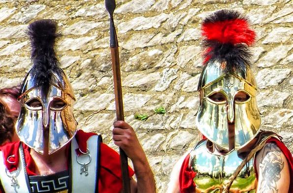 Roman Classical Mask Grecian Head Spear Lance Cove