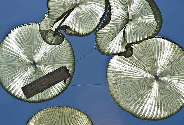 Parachutes Free-falls Blue Clouds Vapors Sky Parac