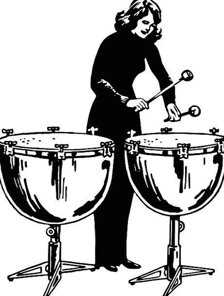 Kettledrums Drummer Percussionist Kettledrum Playi