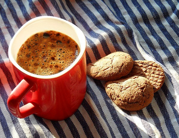 Coffee Chocolate Drink Food Biscuits Rusks Cup Of