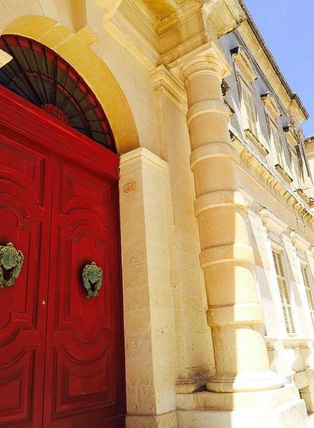 Malta Entrance Red Bloodshot Door