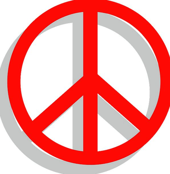 Peace Concord Symbol Red Bloodshot Sign Happiness Symbols