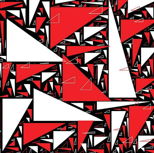 Triangle Threesome Bloodshot Black Dark Red White